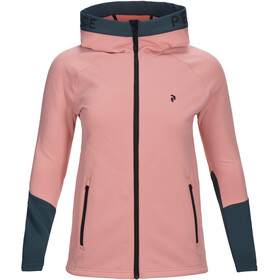 Peak Performance W's Rider Zip Hood Warm Blush